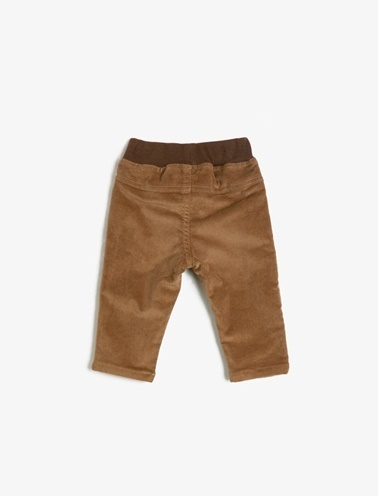 Koton Kids Beli Bağlamalı Pantolon Kahve